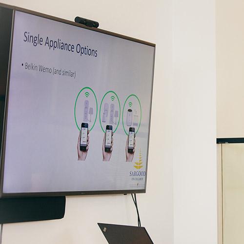 Sargood on Collaroy Home Automation Demonstration slide