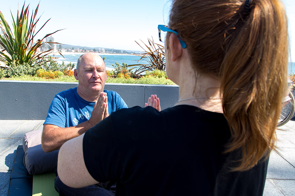 Sargood on Collaroy adapted yoga class