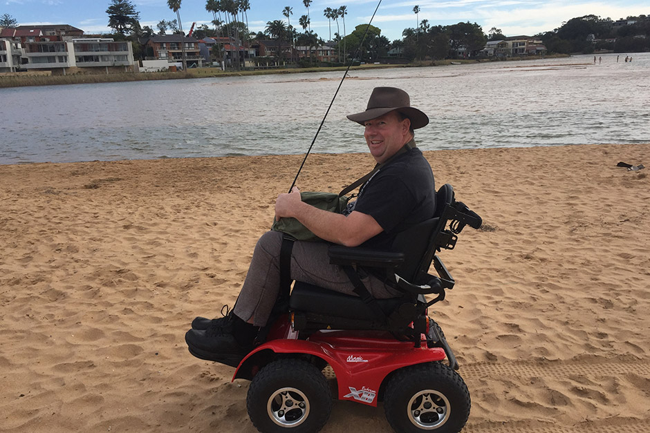 Sargood on Collaroy guest about to go fishing