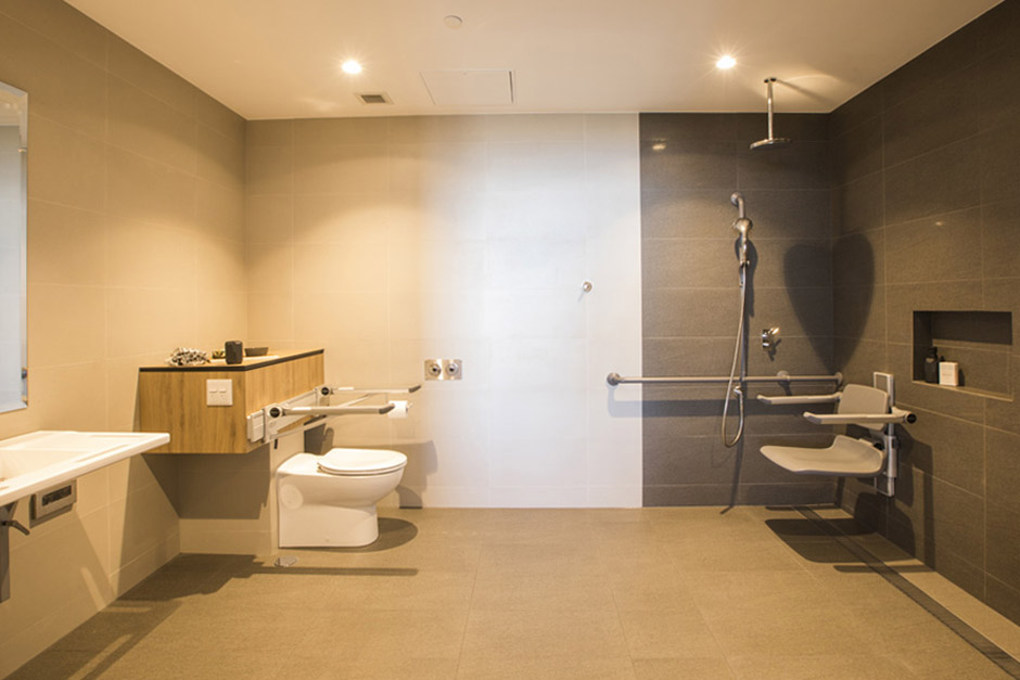 Sargoodon Collaroy Deluxe Studio Room bathroom