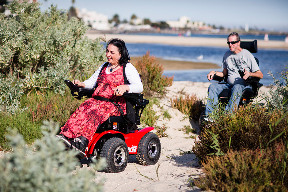 Sargood on Collaroy-magic-mobility-X8-couple-beach